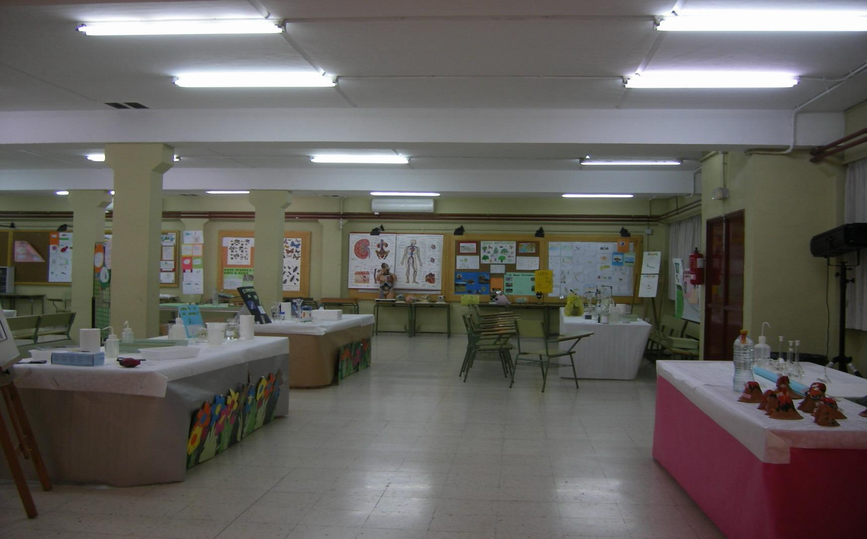 Vista parcial del Salón de Usos Múltiples del IES Blas Infante